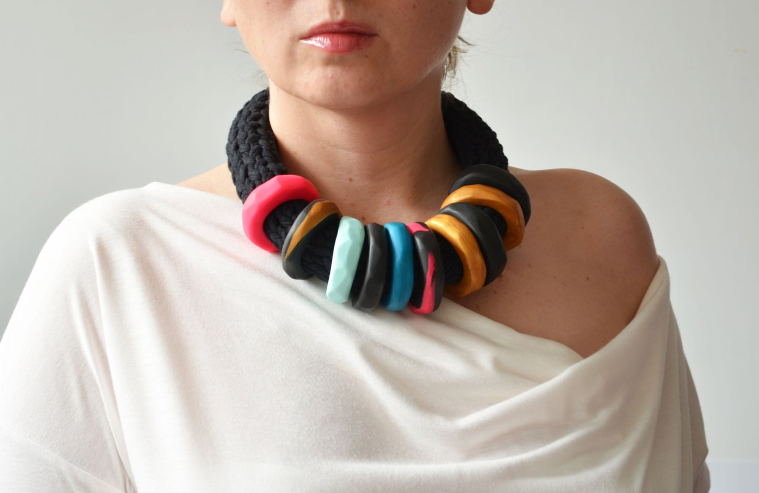 African clothing tribal necklace funky jewelry modern by ikkx