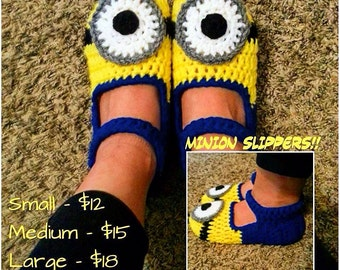 Crochet Despicable Me Minion Slippers