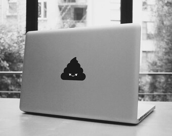 """Kawaii poo macbook pro and air stickers decal for 13,15,17"""" six variants"""