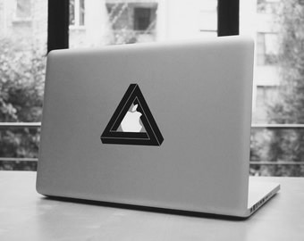 Infinite triangle macbook pro and air iPad stickers decal for 11,13,15,17""