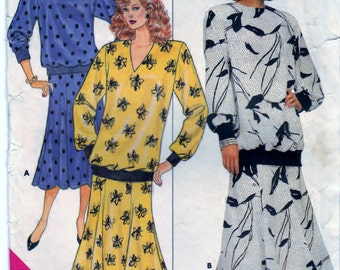 Butterick 4380 Pattern Misses' Top and Skirt P-S-M