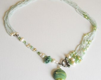 Green and Pearl Necklace