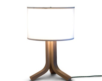 table lamp walnut bent plywood tripod lamp table lamps modern table lamp