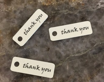 Mini Thank You Cream Tags, set of 20
