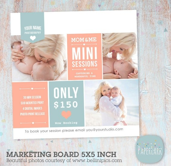 Mother's Day Mini Session Template Photoshop Template