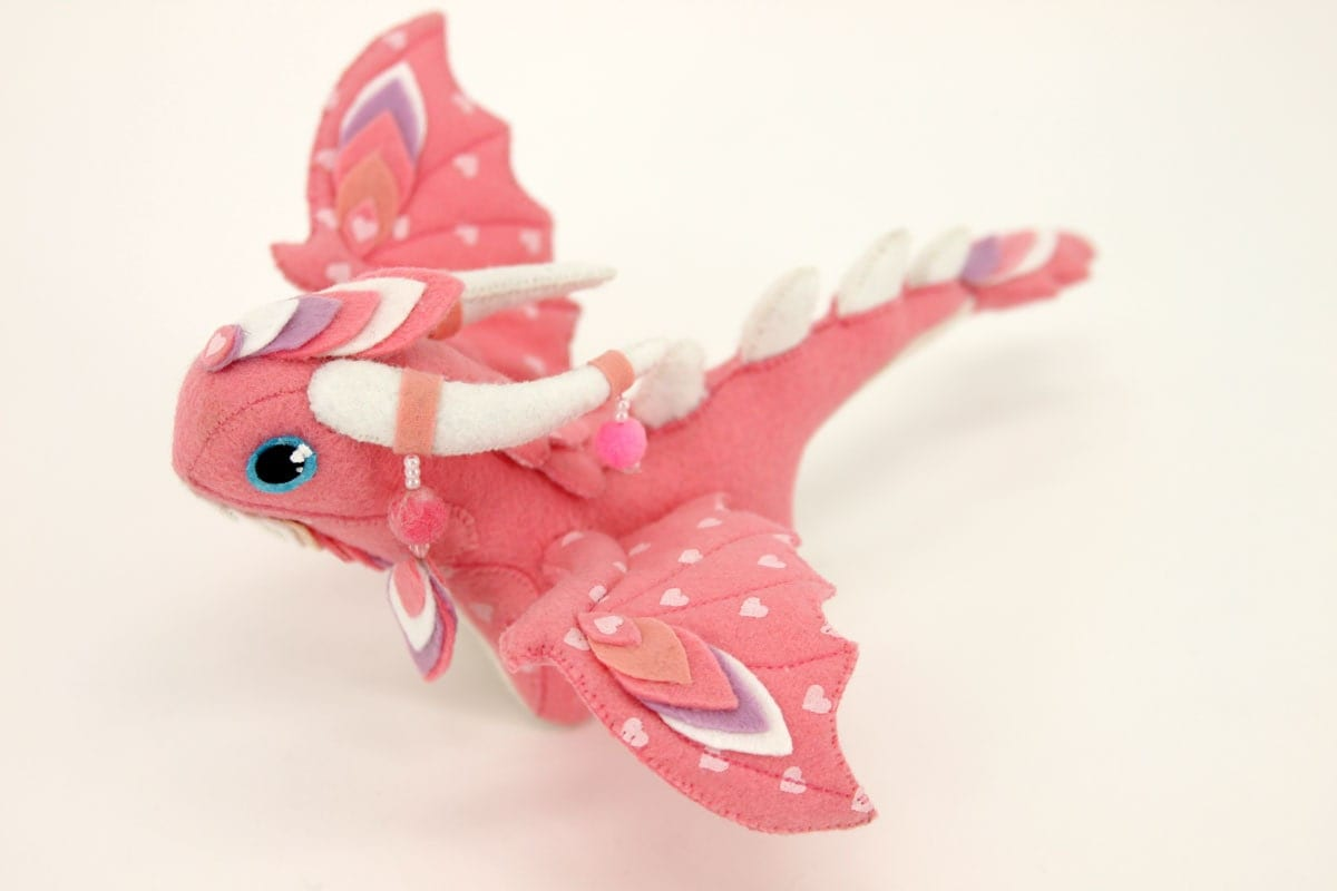 Squishy Dragon Toys : Soft toy dragon MADE TO ORDER fantasy plush animal textile