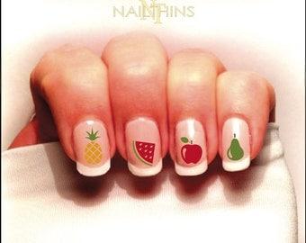 Fruit Nail Decal Pineapple Watermelon Apple ect. Set #1 Color Nailthins Nail Art