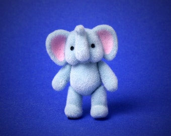Miniature Toy Elephant for Your Dollhouse