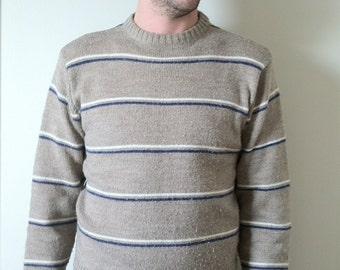 SALE ITEM: 80s Le Tigre Brown Striped Sweater