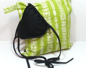 Green Wet Bag, WetBag, Summer Wet Dry Bag, Zipper Wet Bag, Toiletry Bag, Bag for Beach, Beach Wet Bag, Cosmetic Bag, Toiletry Wet Bag