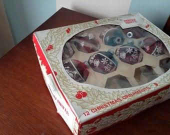 "Vintage ""Shiny Brite"" Christmas Tree Ornaments"