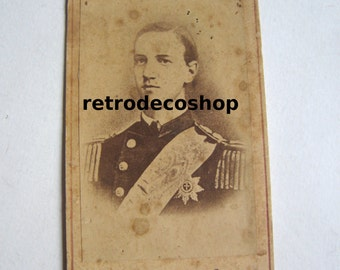 1860's King of Greece George I, original photo