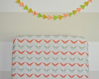 Crib Sheet Watercolor Chevron. Fitted Crib Sheet. Baby Bedding. Crib Bedding. Minky Crib Sheet. Crib Sheets. Coral Crib Sheet.