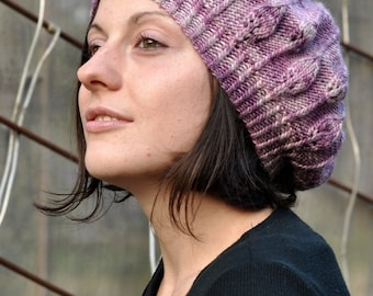 Limpetiole beret PDF knitting pattern (instructions)