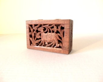 Hand Carved Wooden Box India