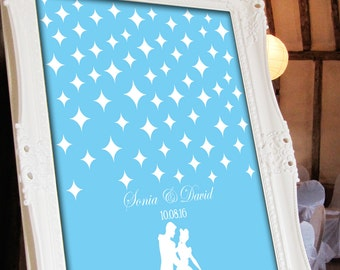 Cinderella Wedding Guest Signing Poster - 16x20 Personalized Wedding Guest Book Alternative
