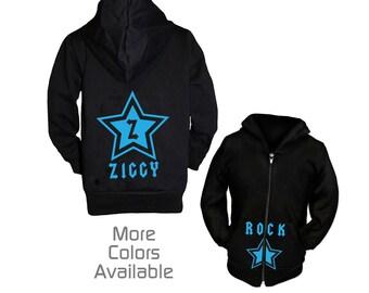 Personalized Kids Rockstar Sweatshirt, Boys Hoodie, Custom Toddler Boy Hoodie, Kids Hoodie