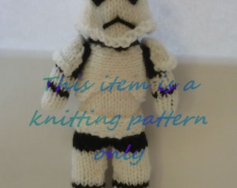 PDF knitting pattern: Stormtrooper (Star Wars)