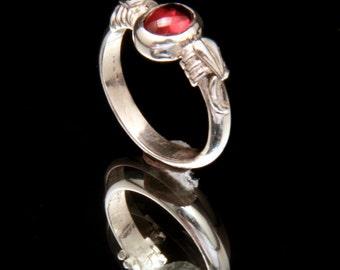 Garnet Cabochon Ring 1