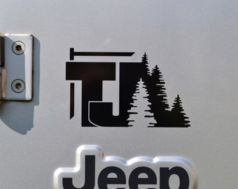 Jeep Wrangler TJ with Trees Decal