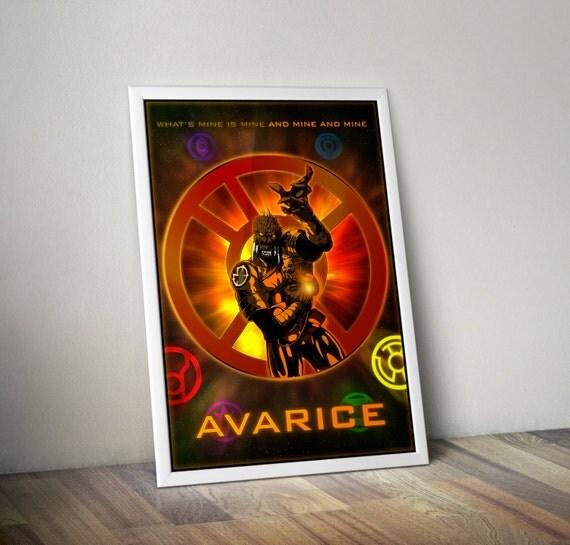 The Lantern Corps Avarice 24x36