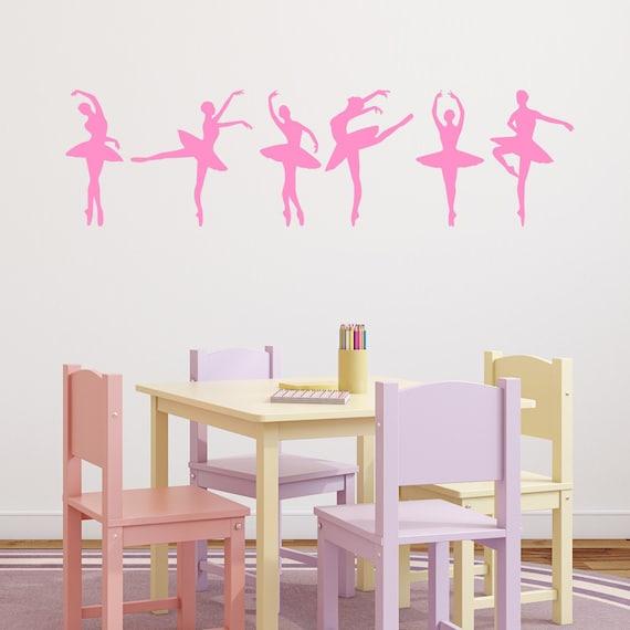 Ballerina wall stickers ballet dancer wall decals dancer for Ballerina wall mural