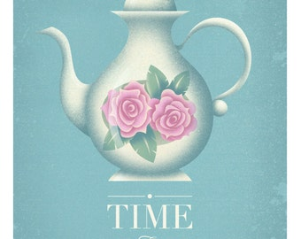 Time for Tea - Sizes A4 to A3 Giclee Art Print