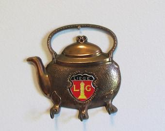 Copper Teapot Key Holder Kitchen Wall Decor Key Hooks Decorative Key Rack
