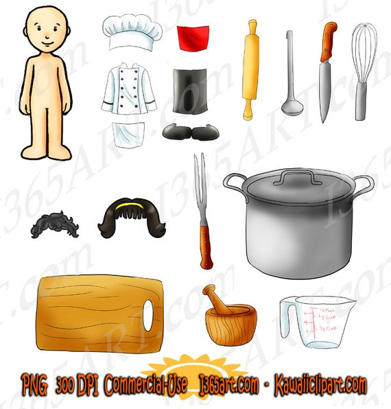Kawaii Dress-Up Chef Kitchen Cooking Appliances Pack Of By
