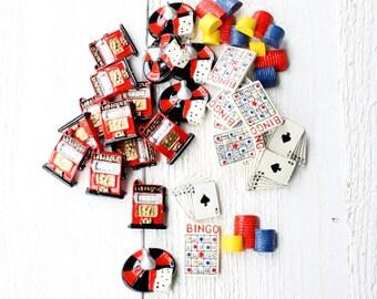 Gaming Theme Cabochon Craft Embellishments- Set of Twenty Nine