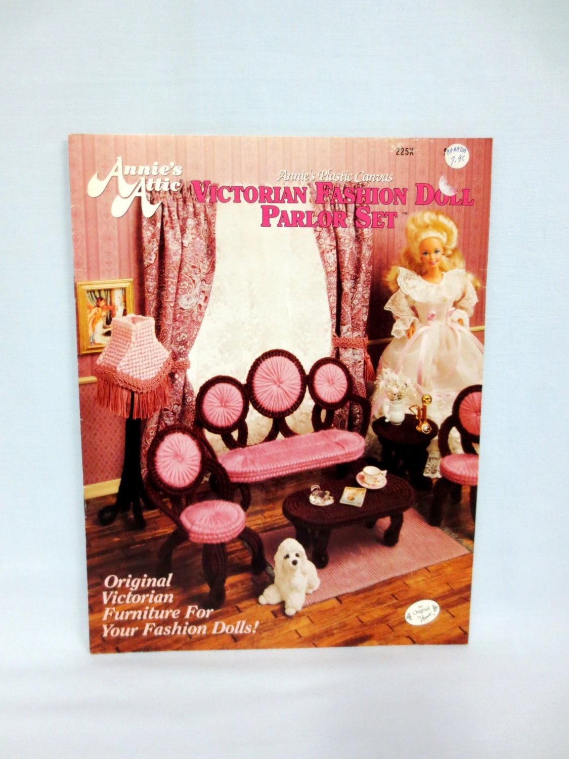 Annies Attic Plastic Canvas Fashion Doll Furniture Victorian