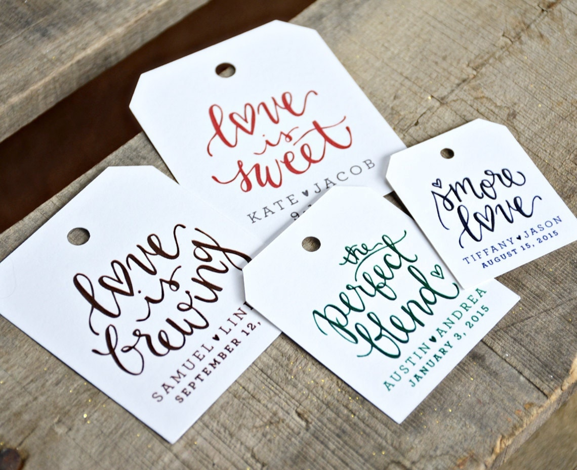 How To Make Wedding Gift Tags : 24 Pre Printed Favor Tags for Wedding Favors Dinners