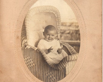 Antique Photo of Darling Smiling Baby