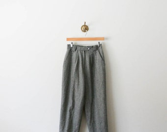 vintage 80s houndstooth wool trousers
