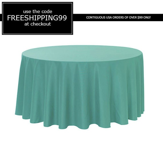 120 inch round polyester tablecloth robin egg by for 120 inch round table cloths
