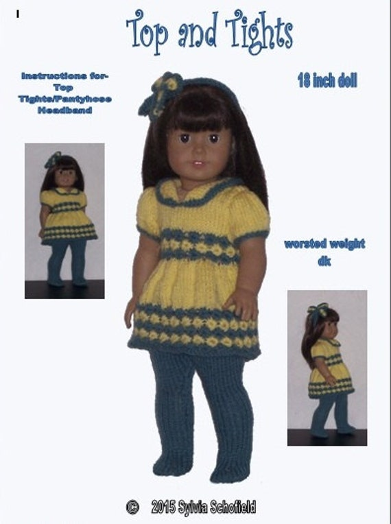 Knitting Patterns For Our Generation Dolls : Dolls Clothes PDF knitting pattern for 18 to 19 inch dolls