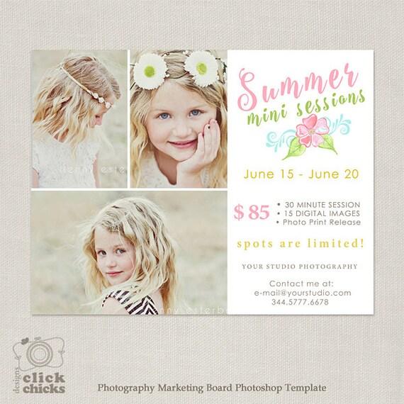 Summer Mini Session Template Photography Marketing Boadr