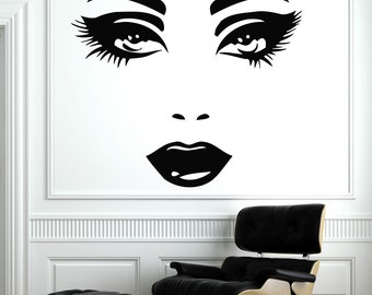 Girl Woman Silhouette Doing Hairstyle Housewares Wall Vinyl - How to make vinyl decals at home