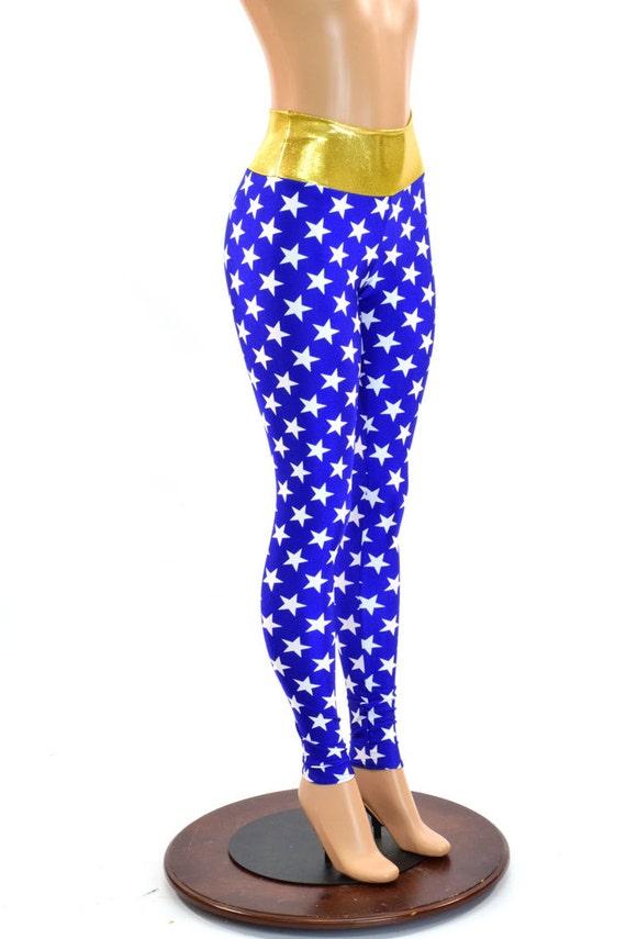 Star Leggings Blue