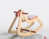 Wooden Rocking Horse - Anniversary  Gift - Modern Wooden Toy for Kids, Boys, Girls - Eco Friendly Toy - C03