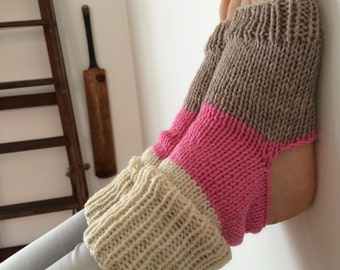 Yoga socks - dance socks -  leg warmers - boot socks - Neon - Accessories - Women - gifts for her - knit yoga socks - winter dance wear