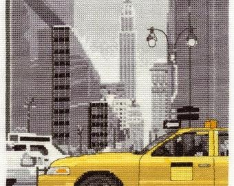 New York Taxi Cross Stitch Kit