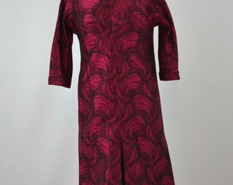 Rare 1980's Michael Novarese Magenta Silk Dress, Size 10