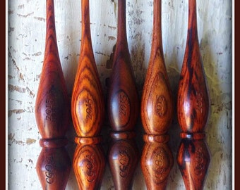 Hand-turned Cocobolo Crochet Hook