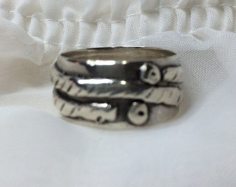 Original Design Sterling Wide-Band Ring