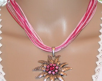 Necklace with edelweiss