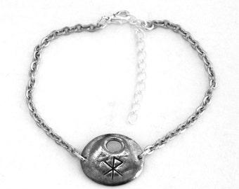 Viking Love Rune Bracelet, Handmade in Great Britain (Wa-t)
