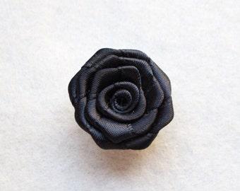 Black lapel flower, lapel flowers, mens lapel flower pin, lapel flower for men, mens button lapel flower, mens flower lapel