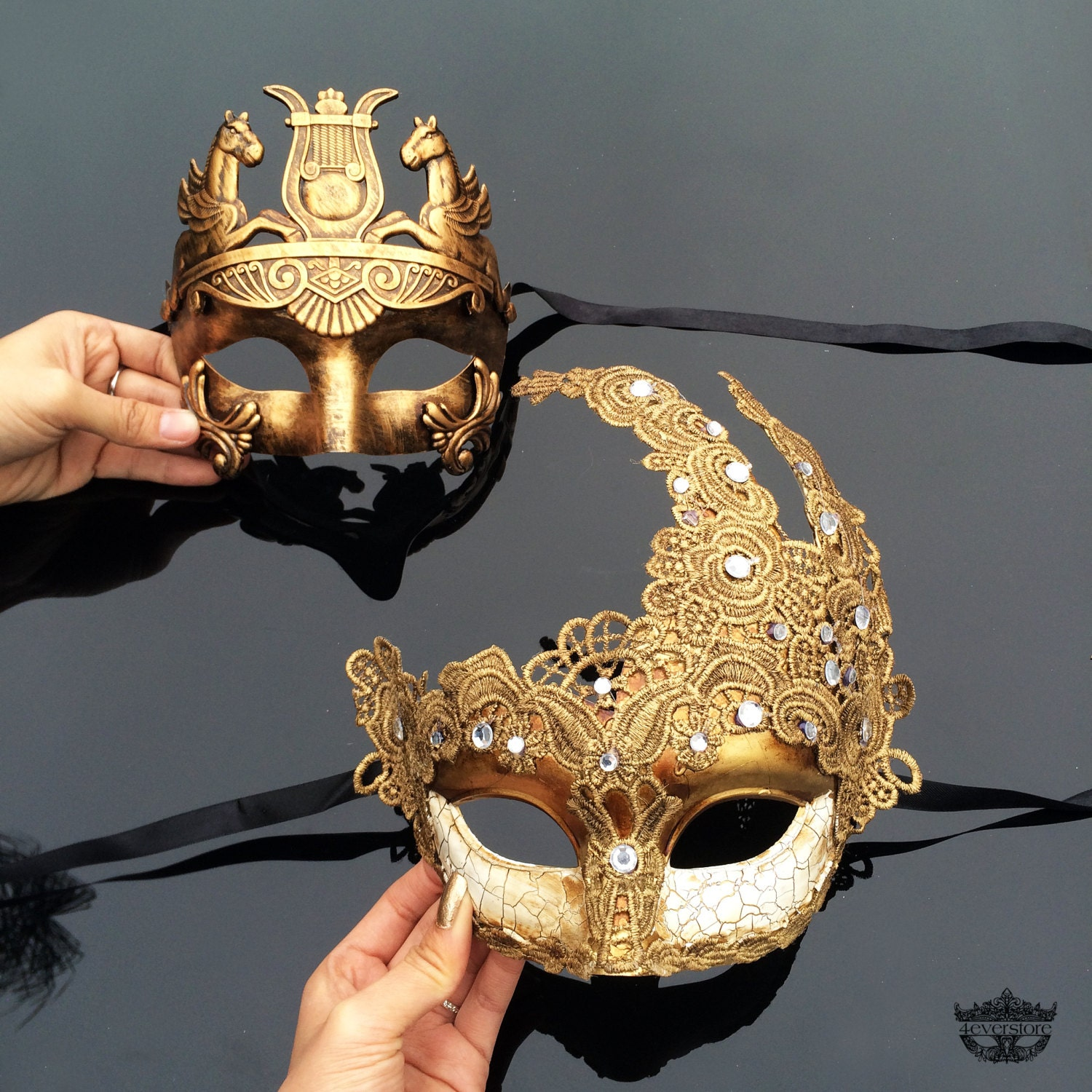 Couples Masquerade Mask His & Hers Masquerade Mask by ...