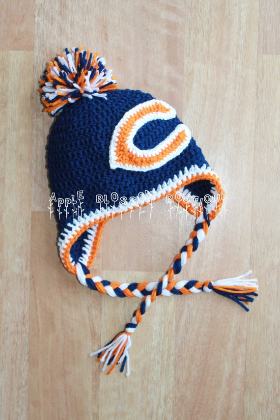 Crochet Bears Hat Chicago Bears Inspired Adult by ...